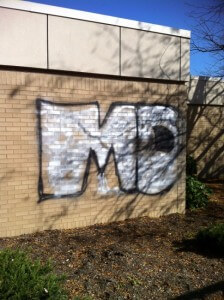 Before Graffiti Removal in Lehigh Valley, PA