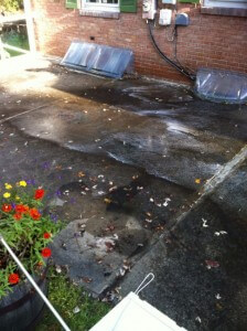 Before Concrete Cleaning in Lehigh Valley, PA by Grime Fighters