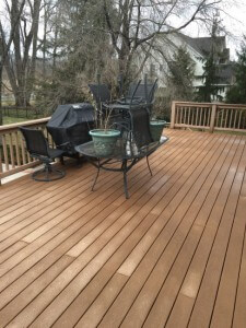 After Grime Fighters Power Washed a Deck in Allentown, PA