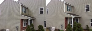Pressure Washing a house in Macungie, PA