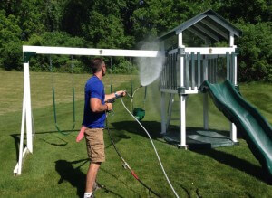 Pressure Washing a Playset in Coopersburg, PA