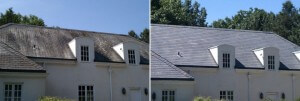 Before and After Roof Cleaning in Emmaus, PA