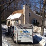 Power Washing a house in Lehigh Valley, PA