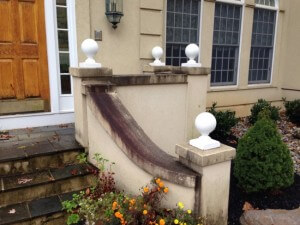 Before Soft Wash Power Washing by Grime Fighters in Allentown, PA
