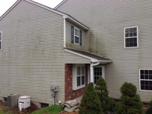 Before House Washing by Grime Fighters in Lehigh Valley, PA