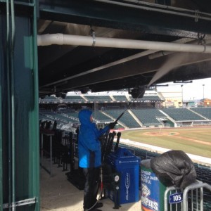 Grime Fighters is the official cleaner for Iron Pigs Stadium