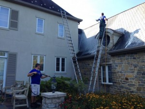 During House Washing and Roof Cleaning by Grime Fighters in Lehigh Valley, PA