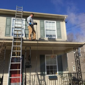 Roof Cleaning in Progress Lehigh Valley, PA