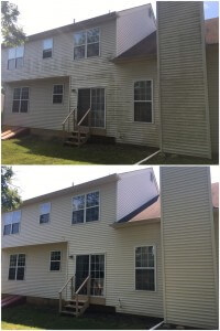 Before and After House Washing in Lehigh Valley, PA by Grime Fighters